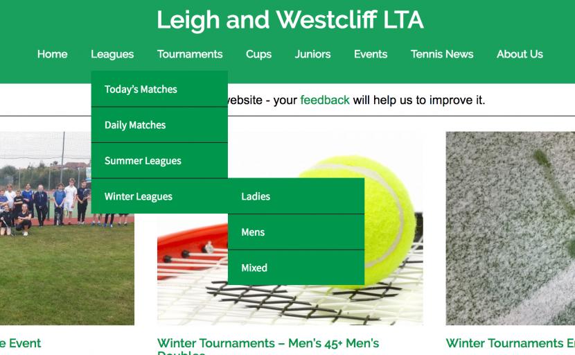leagues landing page